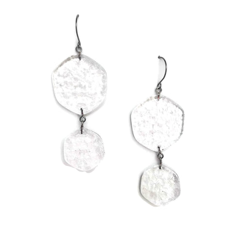 clear lucite earrings
