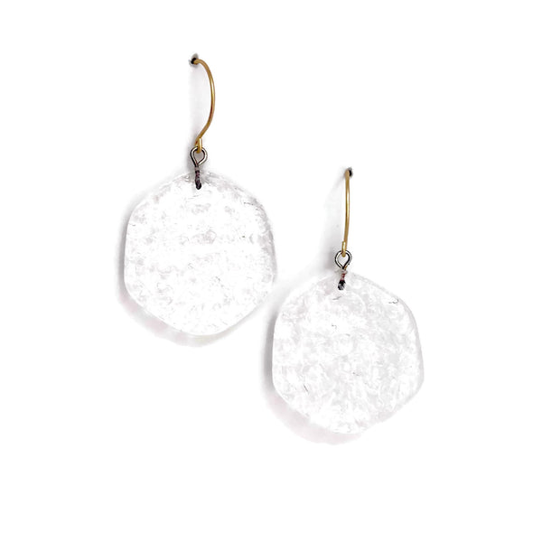 clear lucite earrings stained glass