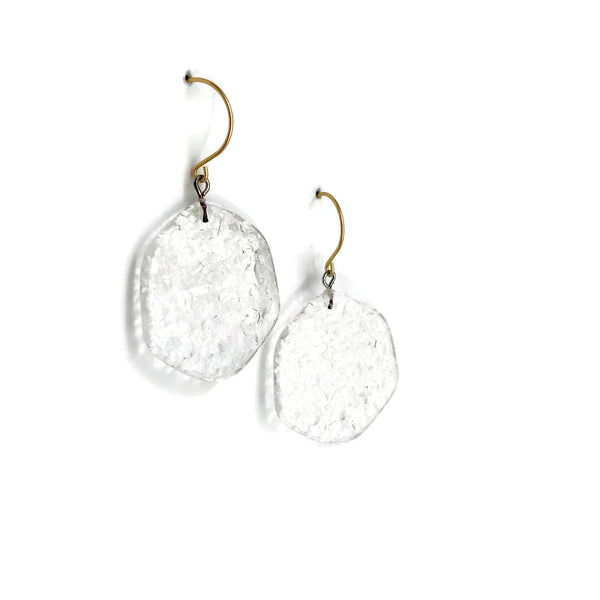 clear earrings