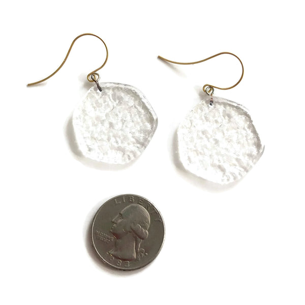clear vintage acrylic earrings