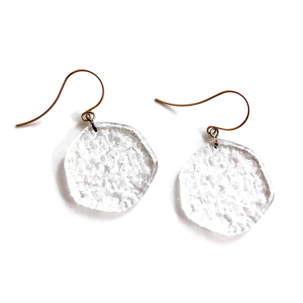 clear drop earrings lucite