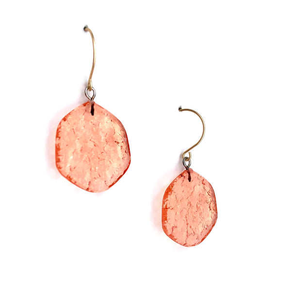 coral etched earrings