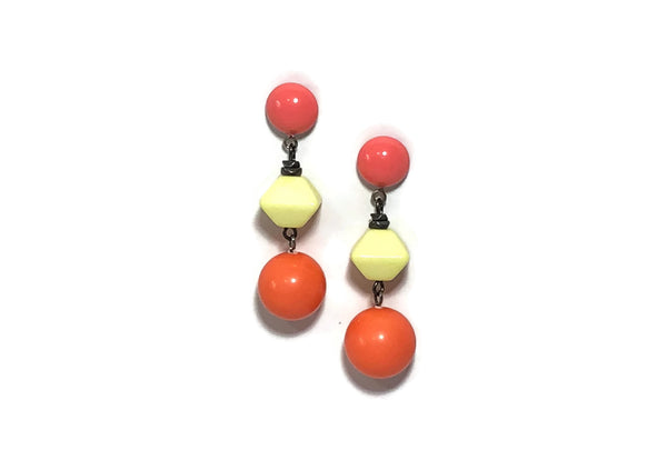 citrus geometric earrings