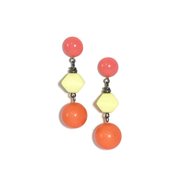 orange yellow earrings