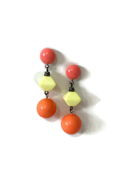 big citrus earrings