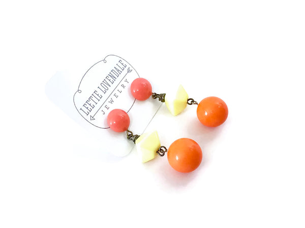 yellow orange earrings