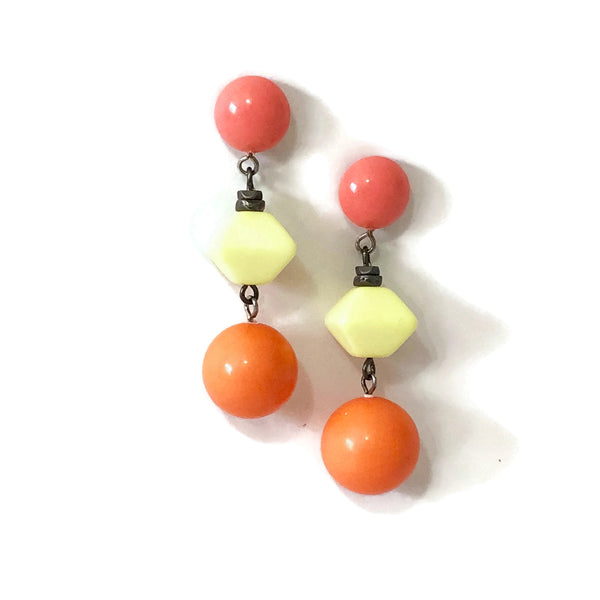 coral orange earrings
