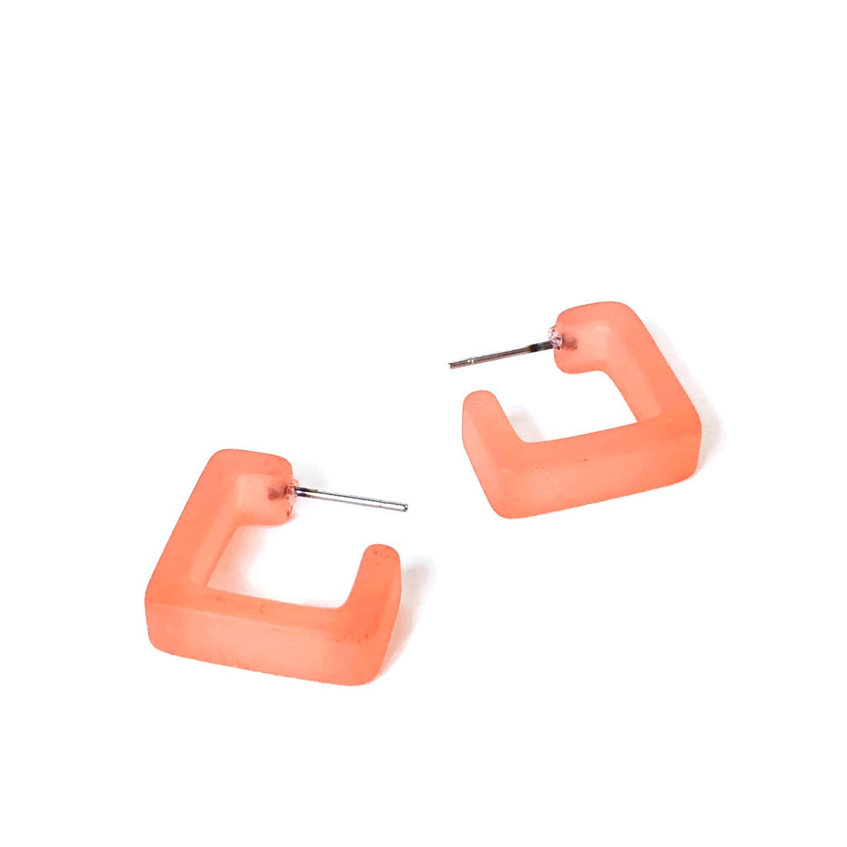 coral square hoops