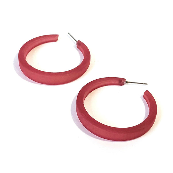 cranberry red hoops