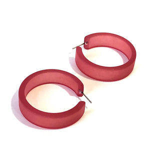 big dark red hoops
