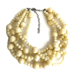 cream marbled necklace