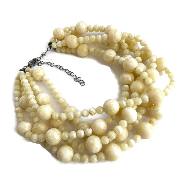 ivory necklace lucite