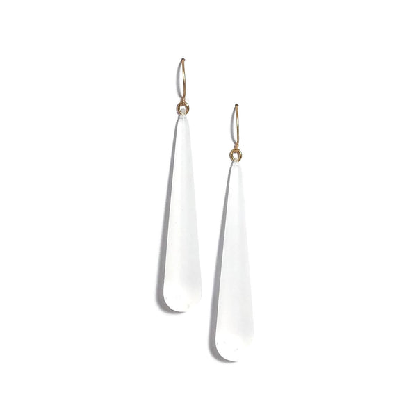 long clear drop earrings