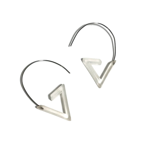 clear geometric earrings