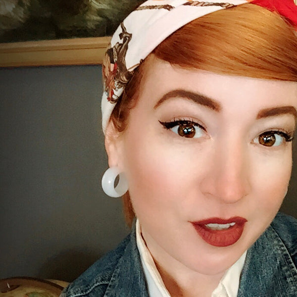 vintage ginger hoops