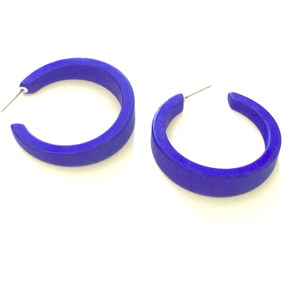 blue lucite hoop earrings