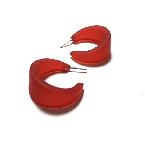 red acrylic hoops