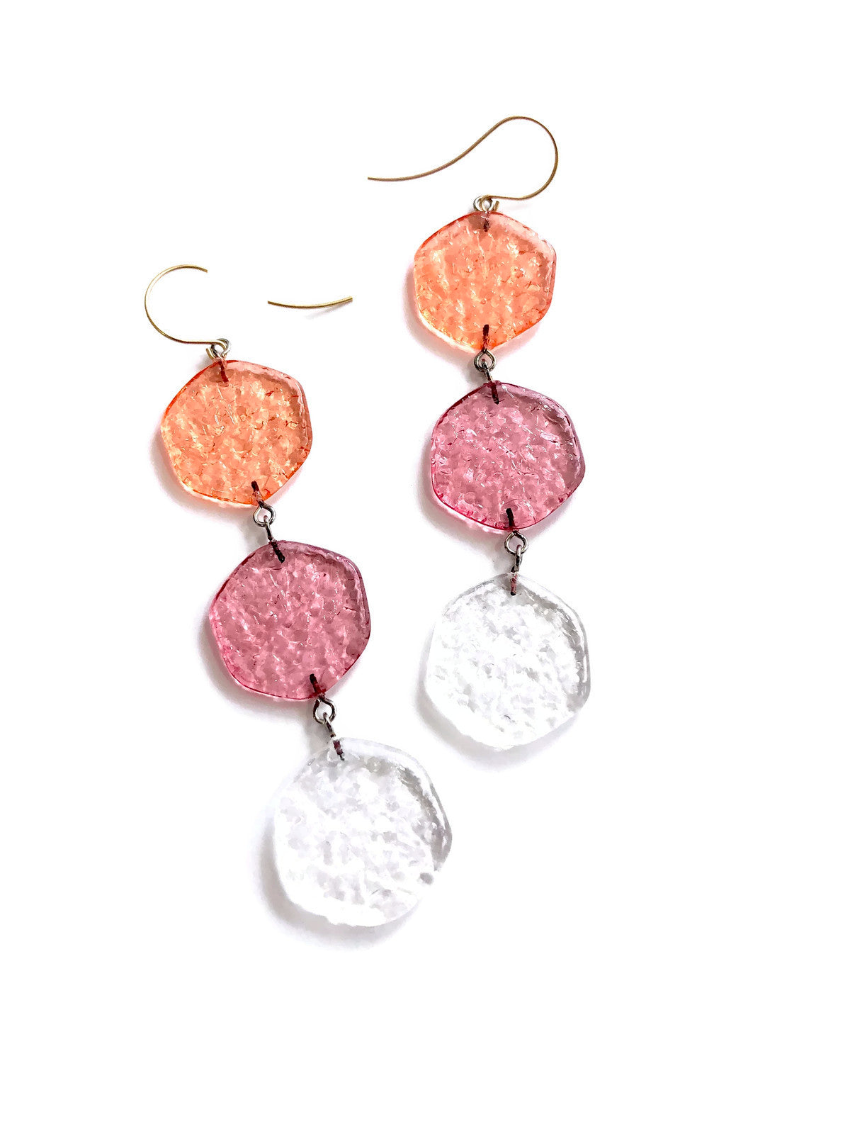 triple drop earrings fruite