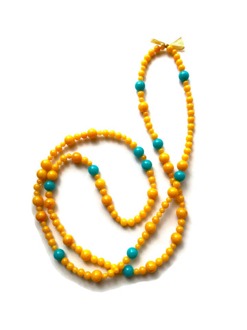 yellow wrap necklace