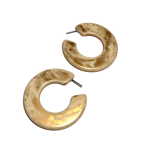 ivory gold earrings