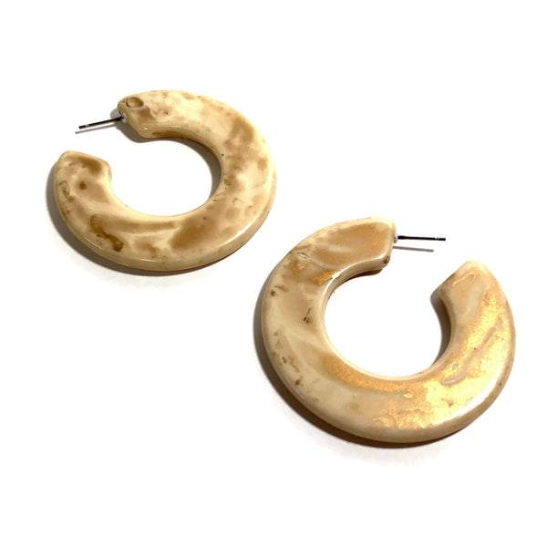 big ivory earrings