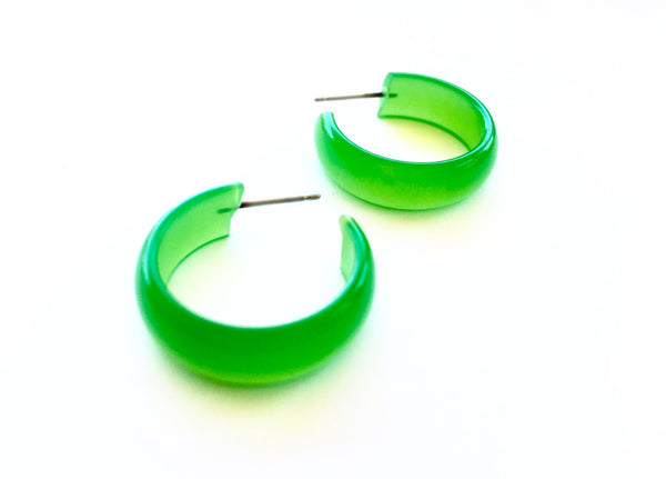 bright green earrings