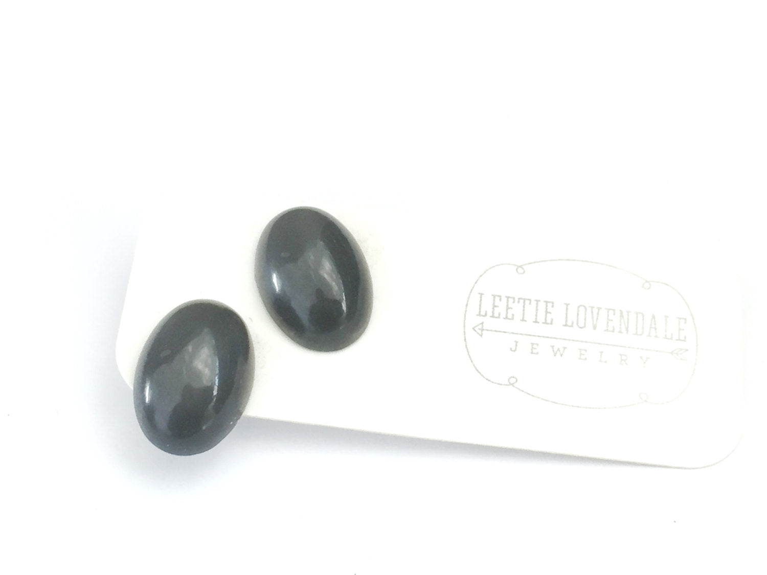 grey moonglow studs