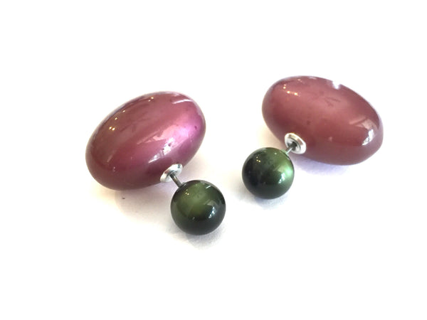 green eggplant earrings