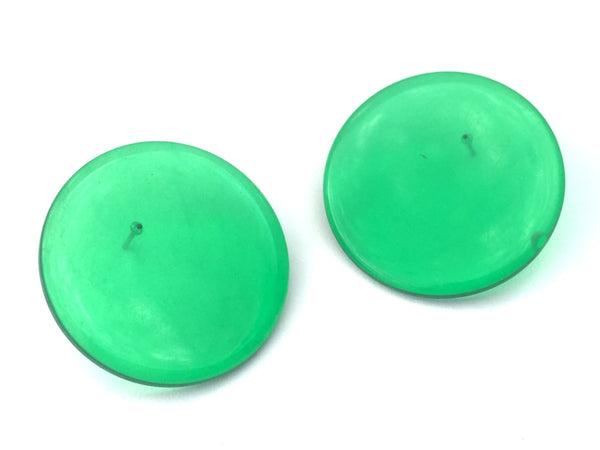 emerald green big earrings