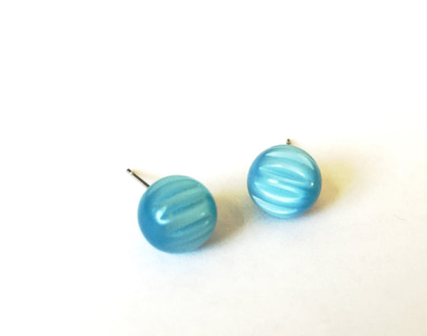 turquoise stud lucite earrings