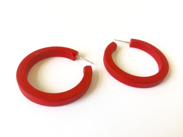 marbled classic hoops red