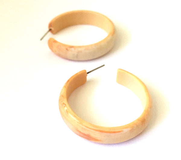 marbled ivory earrings