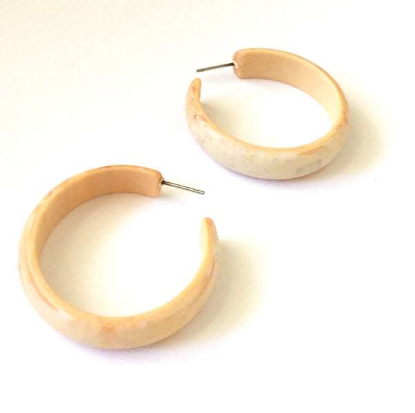 big ivory lucite hoops