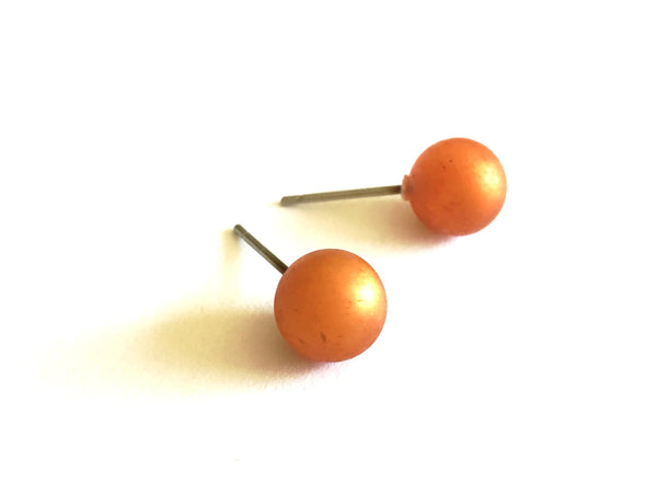 small copper studs