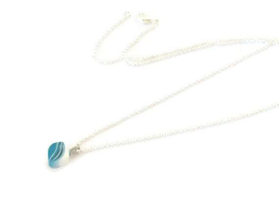 turquoise square simple necklace