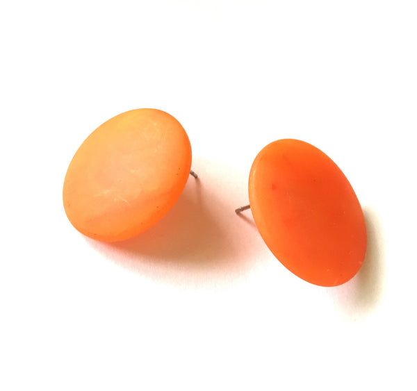matte orange earrings