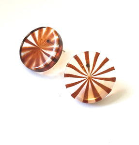 tortoise stripe disc earrings