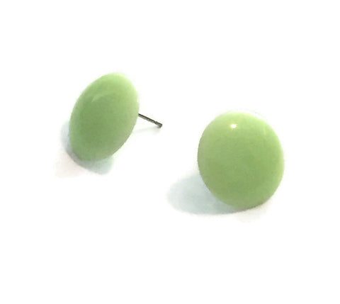 mint green disc studs