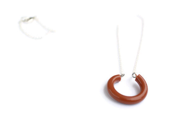 brown hoop necklace