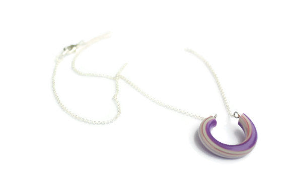 purple stripe necklace