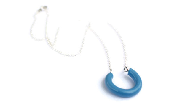 light blue lucky necklace