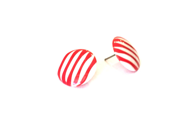 stripe nautical earrings