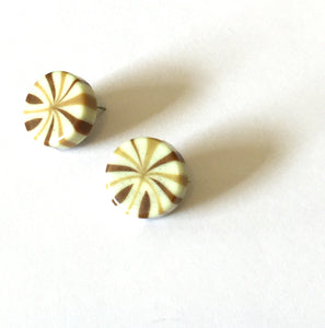 brown beige studs