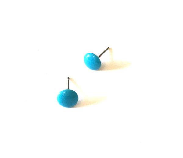 turquoise tiny earrings