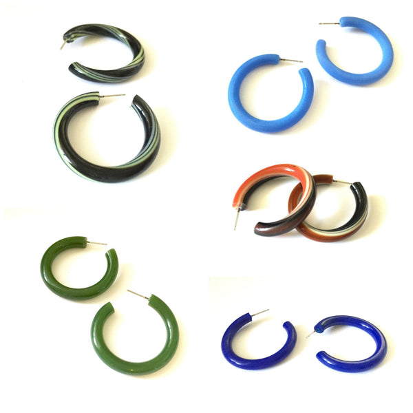 large tube hoop earrings