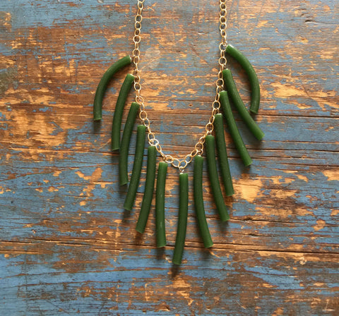 jade fringe necklace