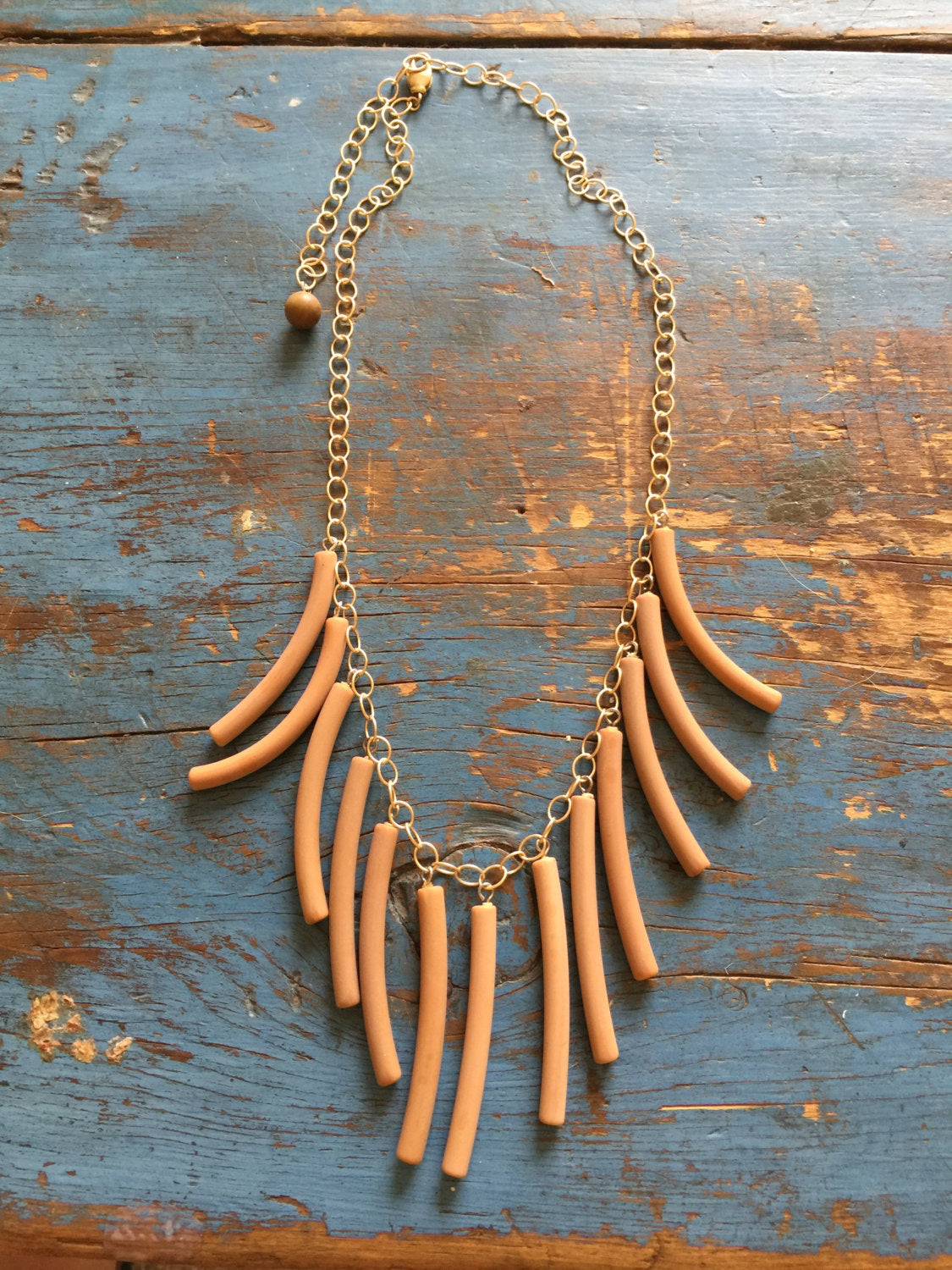 frosted fringe necklace
