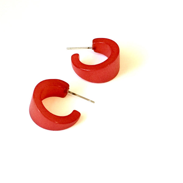 bright red boom hoops