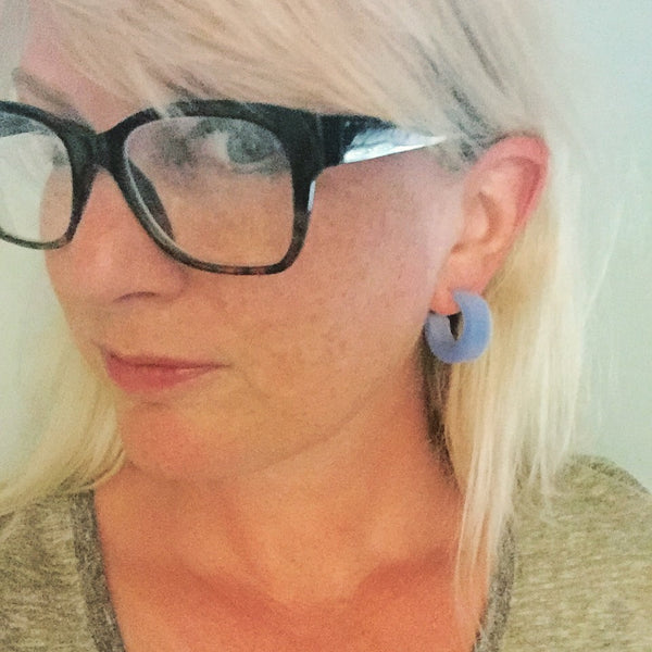 chunky mod lucite earrings