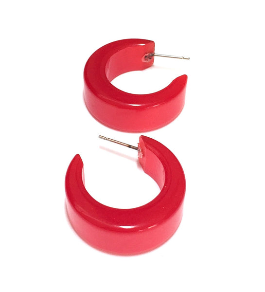 red moonglow retro hoops